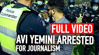 Video: Australia, Victoria: News Journalist physically abused by Police at COVID-Freedom Rally - Avi Yemeni