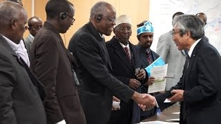 Somalia delegation in Japan post-tsunami