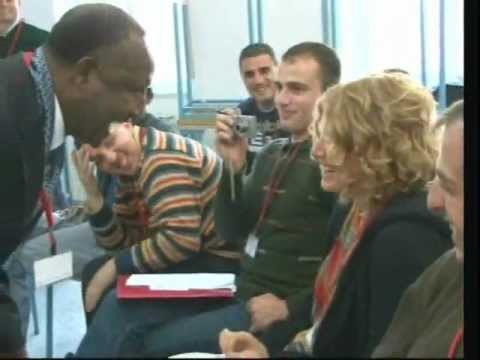Belachew Girma and Alex Sternick in BeitJala - Laughter in PeaceBuilding- part 1