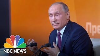 Vladimir Putin Scoffs At Suggestions Of Collusion Between Russia And Trump Campaign | NBC News