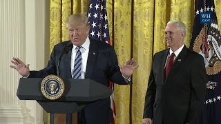 President Trump Attends the White House Senior Staff Swearing In