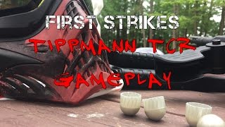 DIABLO - SHOOTING FIRST STRIKES ROUNDS - Tippmann Tcr Gameplay - Magfed Paintball