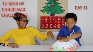 Mystery Slime Switch Up | 12 DAYS OF CHRISTMAS CHALLENGES | Day 11 | No Vlogmas | FUNTIMES