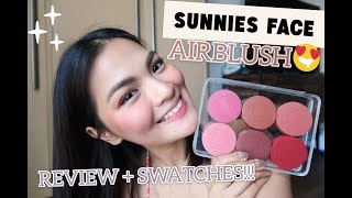 First Impressions + Swatches: SUNNIES FACE AIR BLUSH (All 6 Shades!) • Joselle Alandy