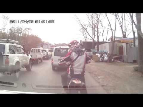 Неадекватный мотоциклист.