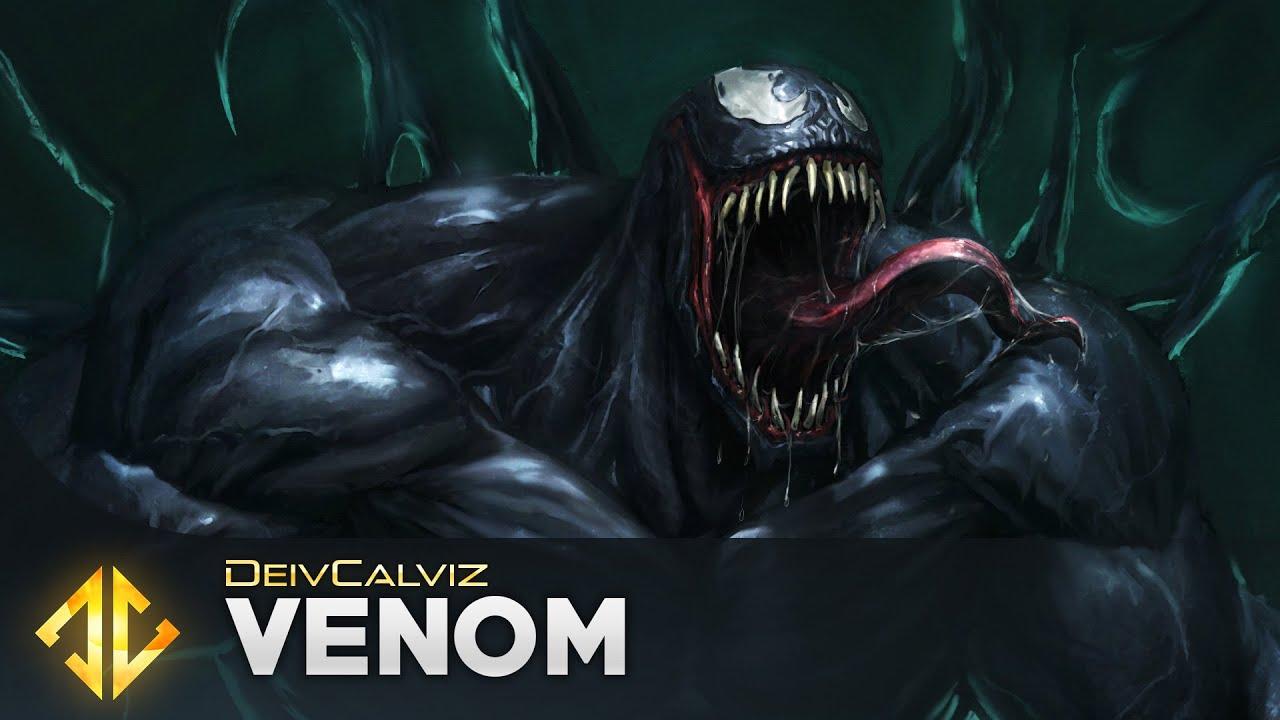 Venom Fan Art - Painting Process - YouTube