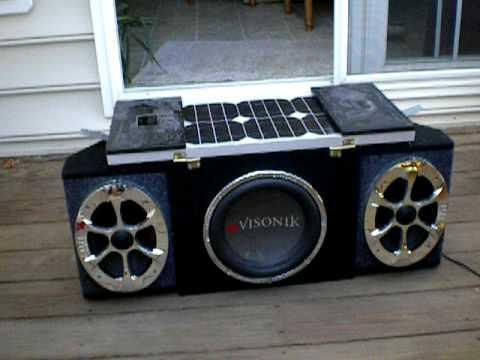 Portable Solar Car Stereo Youtube