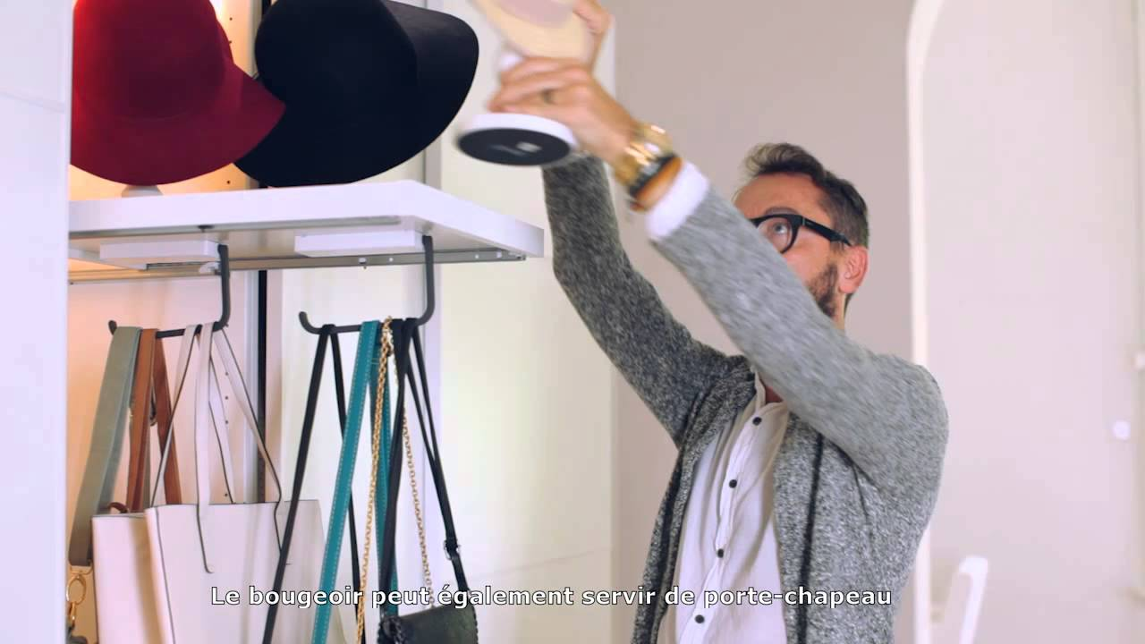 Trucs astuces ikea 9 ranger intelligemment les sacs main et les chapeaux youtube - Rangement sac a main ikea ...