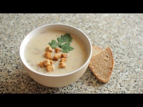 Французский Крем-Суп из Шампиньонов