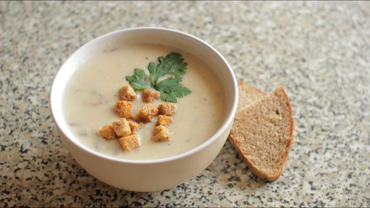 Как приготовить крем суп из шампиньонов со сливками с фото