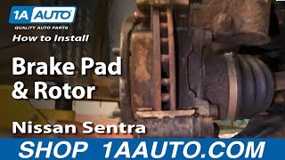 How To Install Replace Front Brake Pads & Rotors Nissan Sentra 00-06 1AAuto.com