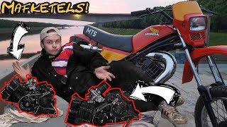 MT5 ANTI ROLLERBANK EN WOKSTATUS DEEL 2! 50CC ENGINE SWAP JA OF NEE?
