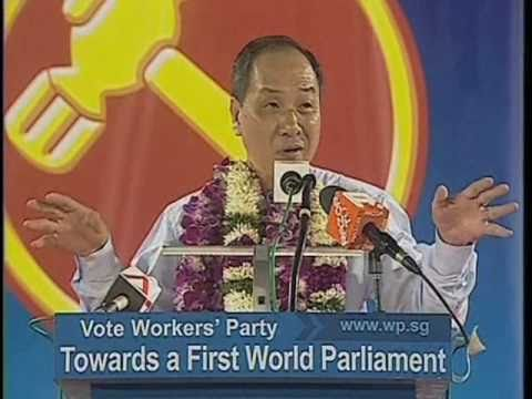 WP's Low Thia Khiang at Aljunied GRC rally, April 29