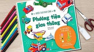 Khéo tay hay làm, phương tiện giao thông bằng giấy - Đồ chơi trẻ em Chim Xinh PAPER CRAFT