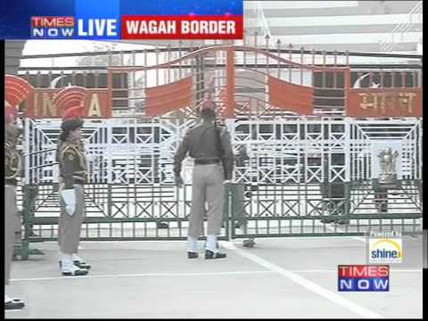 Republic Day Ceremony At Wagah Border video