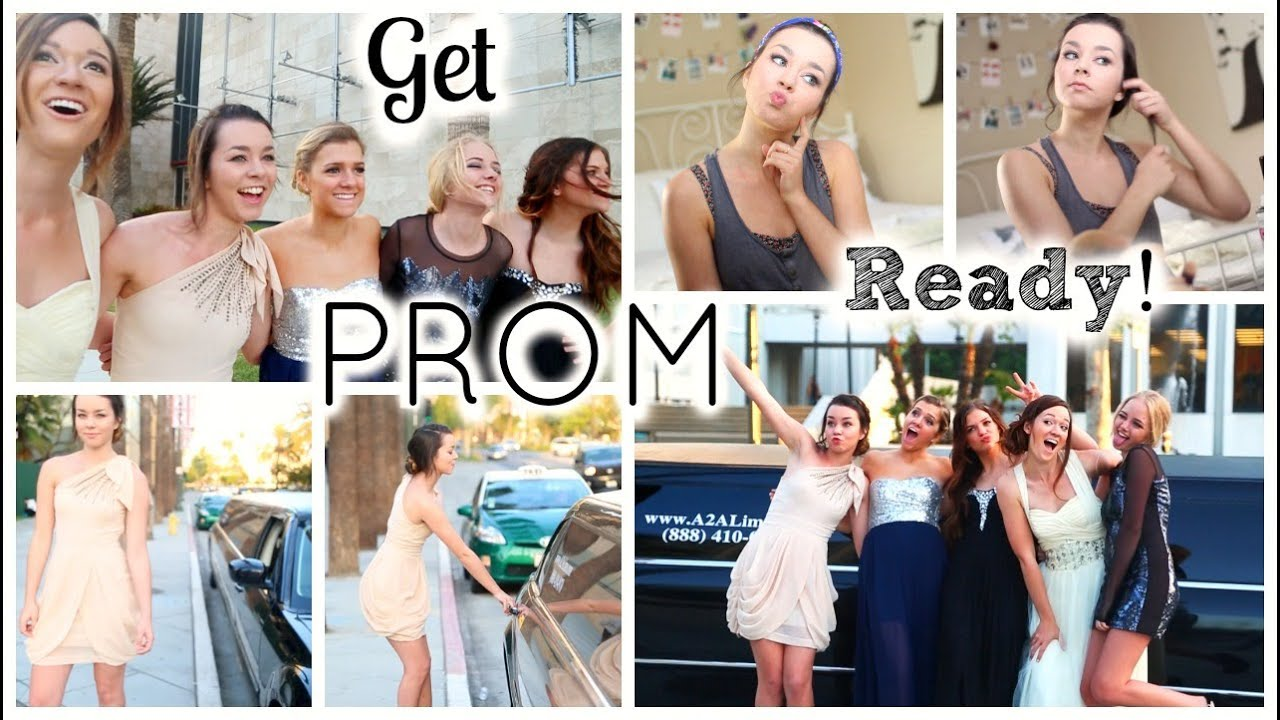 getting prom ready hair makeup amp dress   youtube