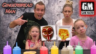 Game Master vs Gingerbread Man GM Pancake Art Challenge!!!