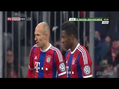 David Alaba Amazing Freekick vs. Braunschweig