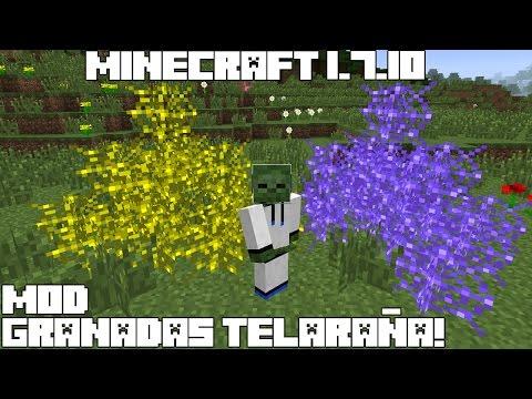 Minecraft 1.7.10 MOD SUPER GRANADAS TELARAÑA! TanglerGrenade Mod Review Español!