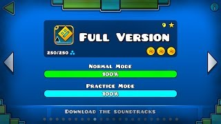 GEOMETRY DASH ORIGINAL ALL FULL VERSION LEVEL 1-21 [100%] [ALL COINS]