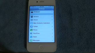 Video Review del iOS 5 en un iPhone 4 Blanco