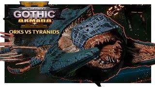 BATTLEFLEET GOTHIC ARMADA 2 | Orks vs Tyranids (1v1 Beta Gameplay Ranked Battle 16)