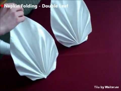 Hur man viker ett dubbelt löv av en servett