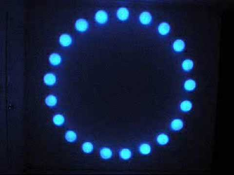 led gobo star effect light Video