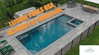 Leisure Pools Ultimate 35' - Start to Finish! | Albert Group Pools & Patios