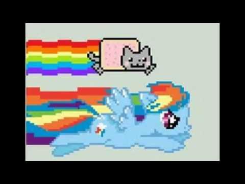 Nyan Cat And Rainbow Dash Nyan Cat And Rainbow Dash