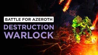 New CHAOS BOLT Animation! Destruction Warlock | WoW: Battle for Azeroth - Beta [2nd Pass]