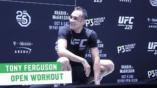 McGregor vs. Khabib: Tony Ferguson Open Workout Highlights