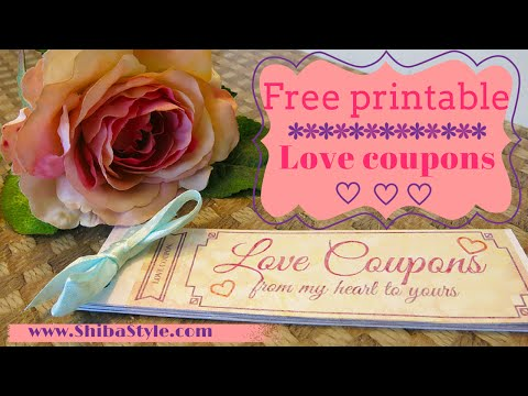Love coupon | Free printable DIY goft for your boyfriend or husband