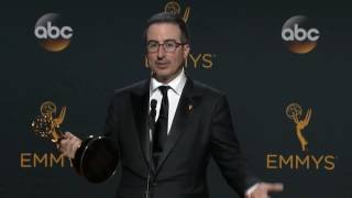 John Oliver Emmy Award 2016 Interview