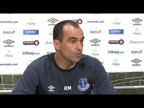 Roberto Martinez's pre-Arsenal press conference