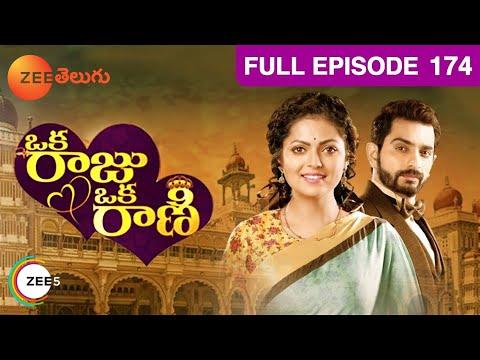 Oka Raju Oka Rani - Indian Telugu Story - Feb 16, 2017 - Zee Telugu TV Serial - Full Episode - 174