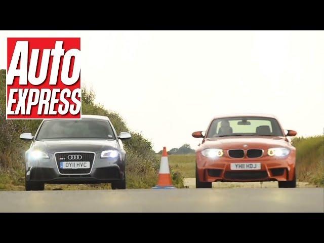 Audi RS3 Sportback v BMW 1 Series M Coupe Drag Race - Auto ...