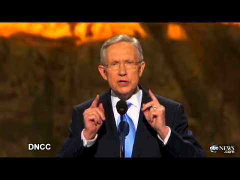 Harry Reid DNC Speech 2012 (COMPLETE): Senate Majority Leader Hits GOP, Mitt Romney on Taxes