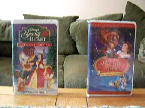 2 Different VHS Versions of Beauty and the Beast: The Enchanted Christmas