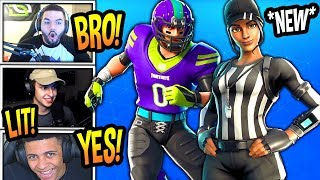 STREAMERS REACT TO *NEW* NFL FOOTBALL & REFEREE SKINS! *EPIC* Fortnite FUNNY & SAVAGE Moments