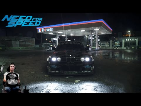 Безумный Блок vs ураганная BMW M3 E30 Need For Speed 2015/2016 на руле Fanatec Porsche 911 GT2