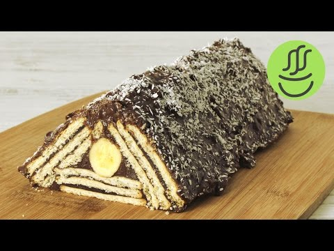 Piramit Pasta Tarifi - Mozaik Pasta - Muzlu Çikolalatalı Pudingli Bisküvili Pasta Yapılışı