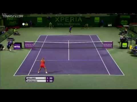 Serena Williams vs Caroline Wozniacki - Miami 2012 - Highlights