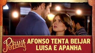 As Aventuras de Poliana | Afonso tenta beijar Luisa e apanha de Marcelo