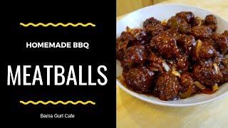 How to Make Homemade BBQ Meatballs