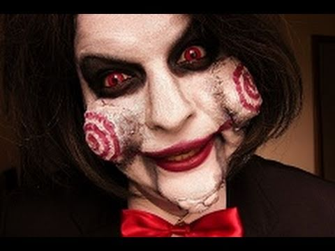jigsaw billy make up tutorial halloween