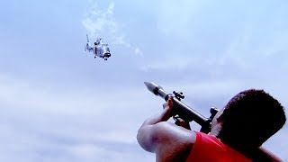 Pirates aim at Chinese helicopters with rockets!