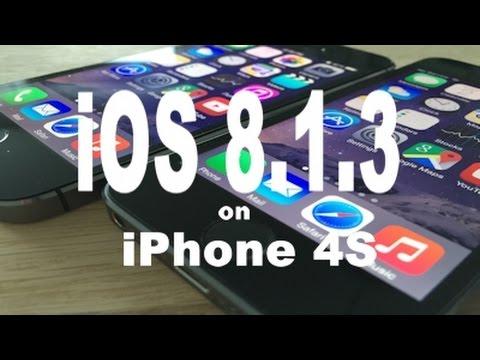 iOS 8.1.3 vs iOS 8.1.2 on iPhone 4S
