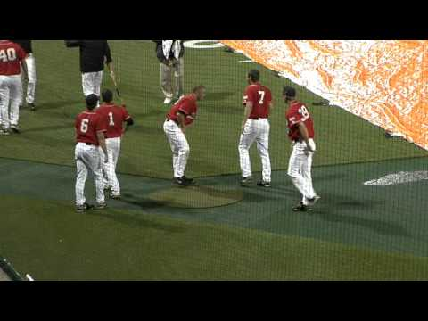 Clemson Baseball vs. Davidson Rain Delay Antics