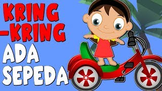 Kring Kring Ada Sepeda | Versi Baru | Lagu Anak Anak | Kumpulan 18 min
